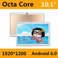 Telefone Ligue para 10.1 Polegada Tablet pc Android 6.0 Originais 3G 4G Android Octa Núcleo 4 GB RAM 32 GB ROM WiFi FM IPS LCD 1920*1200 Tablets Pc