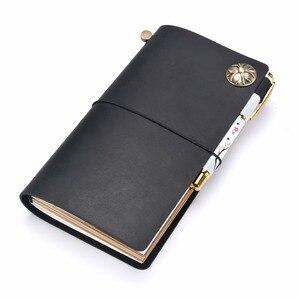 Image 1 - Moterm 100% 本革のノートブック手作り旅行日記ジャーナルクラシックヴィンテージスタイルスケッチブックプランナー送料無料