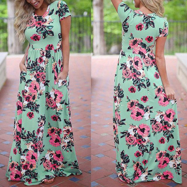 Long Maxi Boho Dress