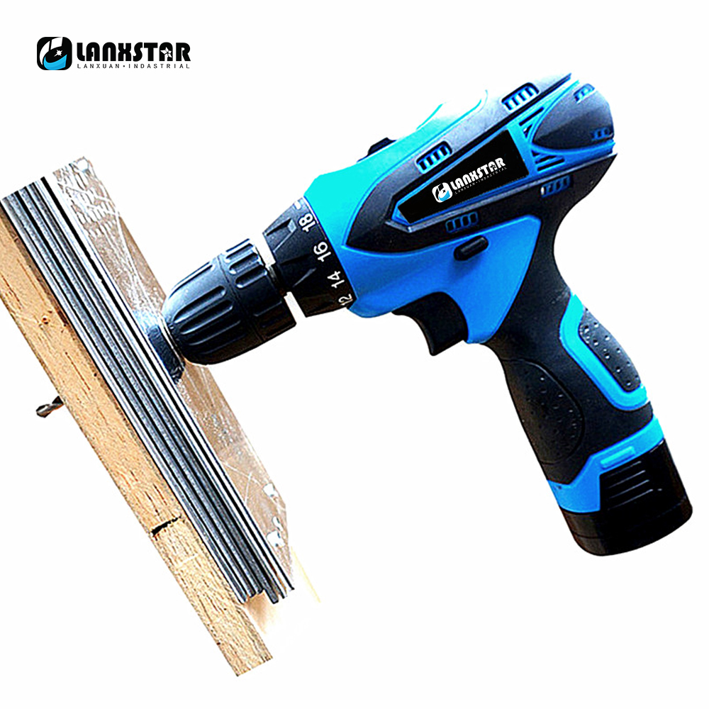 Lanxstar 16 8v Cordless Drills DIY Drills Lithium Electric Screwdrivers Drill Bits Dual Battery Bits in Electric Drills from Tools