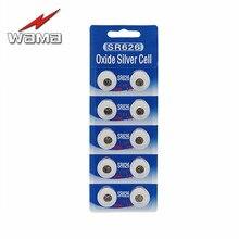 10x SR626 Button Batteries SR626 376 377 SR66 1.55V Silver Oxide Batteries цена и фото