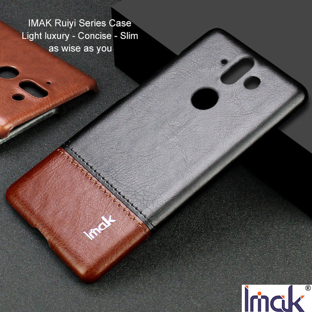 new product a5f4e ce633 US $7.99 20% OFF|IMAK Ruiyi Series Luxury Skin PU Leather Case for Nokia 8  Sirocco Hard PC Back Cover Case Quality for Nokia8 Sirocco Luxury Slim-in  ...