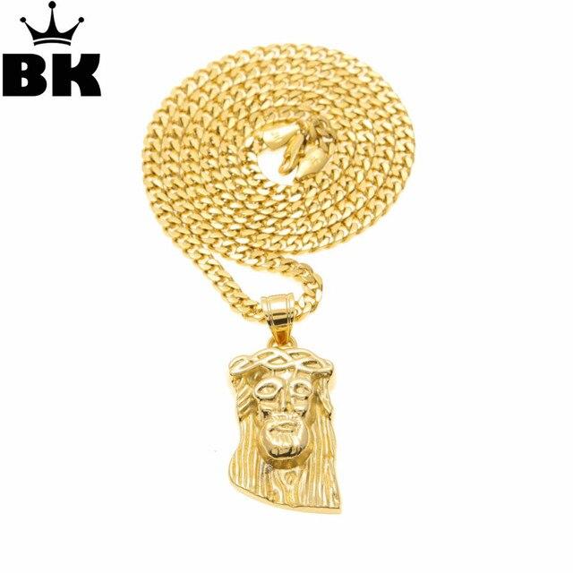 Trendy Gold Color Jesus Christ Piece Head Charm Pendant Hip Hop Men ...