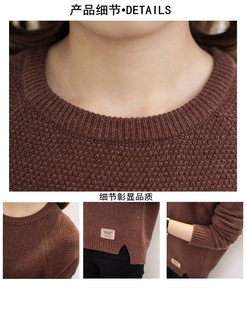 Autumn sweater 19 Winter women fashion sexy o-neck Casual women sweaters and pullover warm Long sleeve Knitted Sweater 6