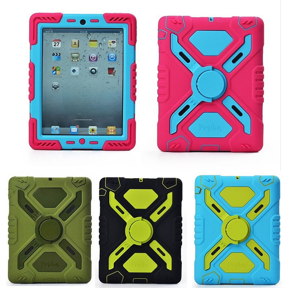 New Original 3D Silicon Spider man Duty Waterproof Dust/Shock Proof with stand Tablet cover case for apple iPad 2/3/4 case ip68 underwater waterproof case for iphone 7 6s 6 dirt dust snow proof cover pink