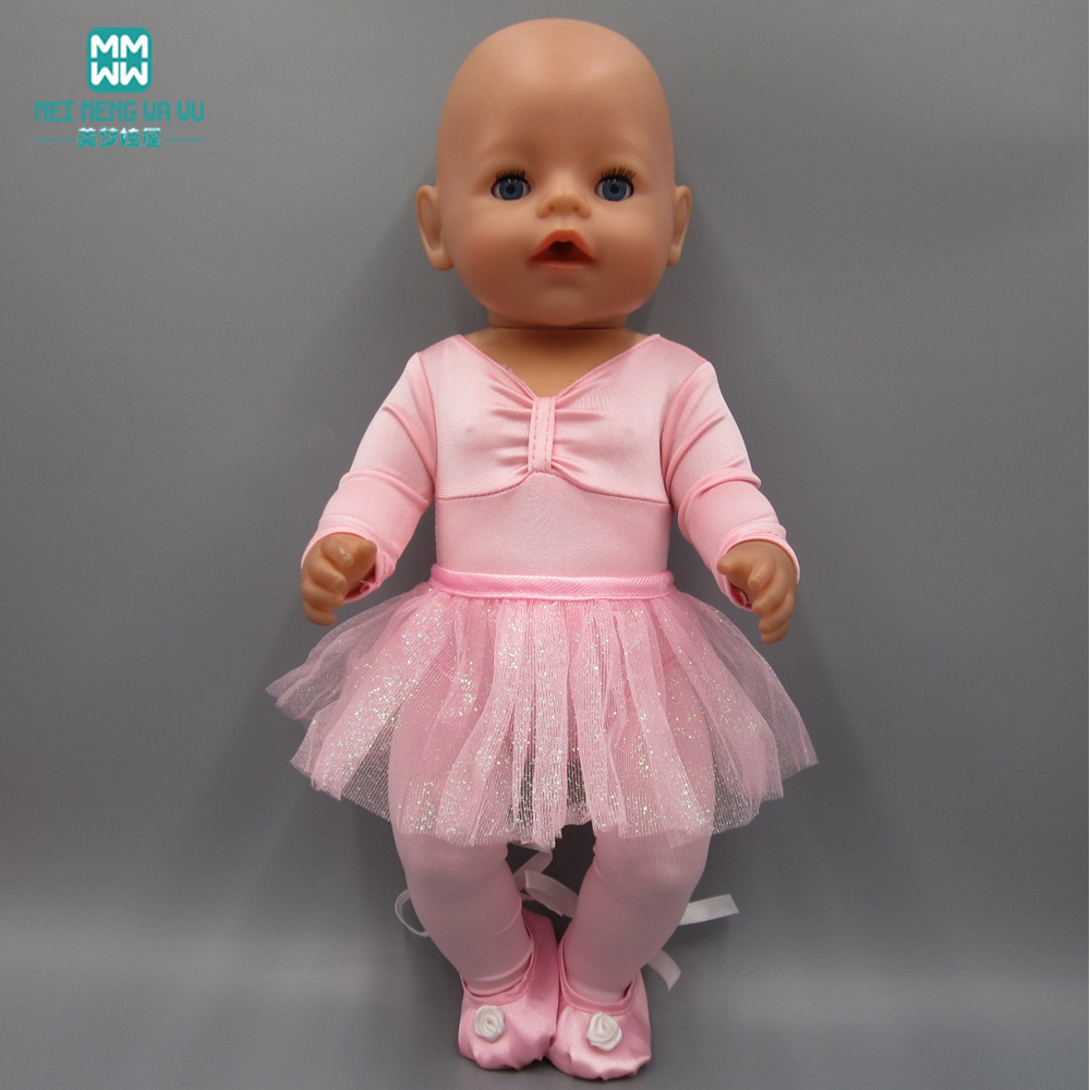 Doll Clothes Fits 45cm Girl Doll Toy Doll And Baby Born Zapf Doll Fashion Ballet Princess Dress Evening Dress