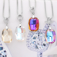 Crystal Shimmer large Rhinestone Pendant Necklace jewellery Making accessories Pendants Shiny Glass Decorative Crystals for craf