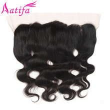 цена на Brazilian Body Wave Hair Lace Frontal Closure 13X4 From Ear To Ear Free Part Remy Human Hair Closure Natural Color 10-20 Inch