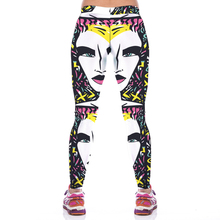 NEW KYK1001 Fashion Sexy Girl Women Abstract Painting Face 3D Prints High Waist Fitness Women Leggings Jogger Pants Plus