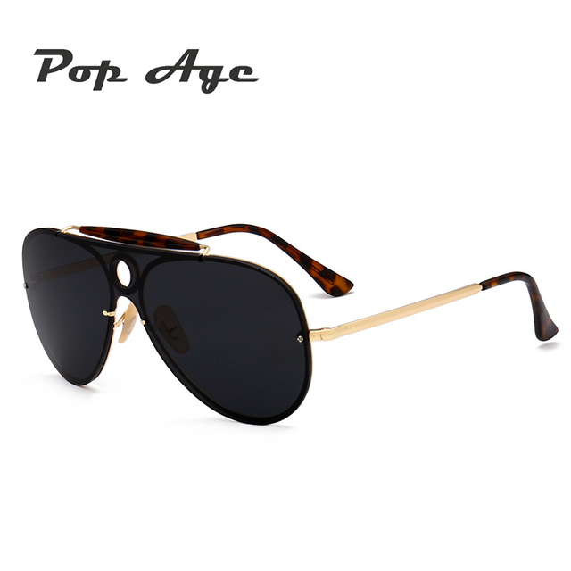f235251591 Pop Age 2017 Fashion Luxury Polarized Sunglasses Women Men Brand Designer  aviator Oversized Sunglasses Windproof Goggle