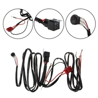 Car Lights Wire LED Light Bar Wiring Harness For Boat SUV Off Road ATV 40 Amp Relay Switch with speaker connector line group