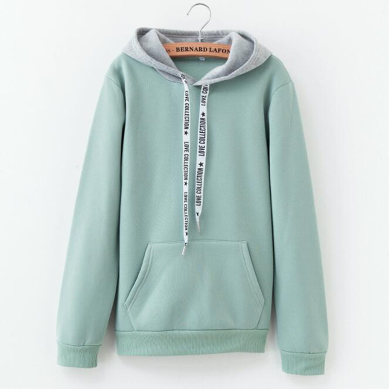 2019 Autumn Winter Fashion Solid Color Harajuku Lotus Root Pink Pullover Thick Loose Women Hoodies Sweatshirts Female Casual