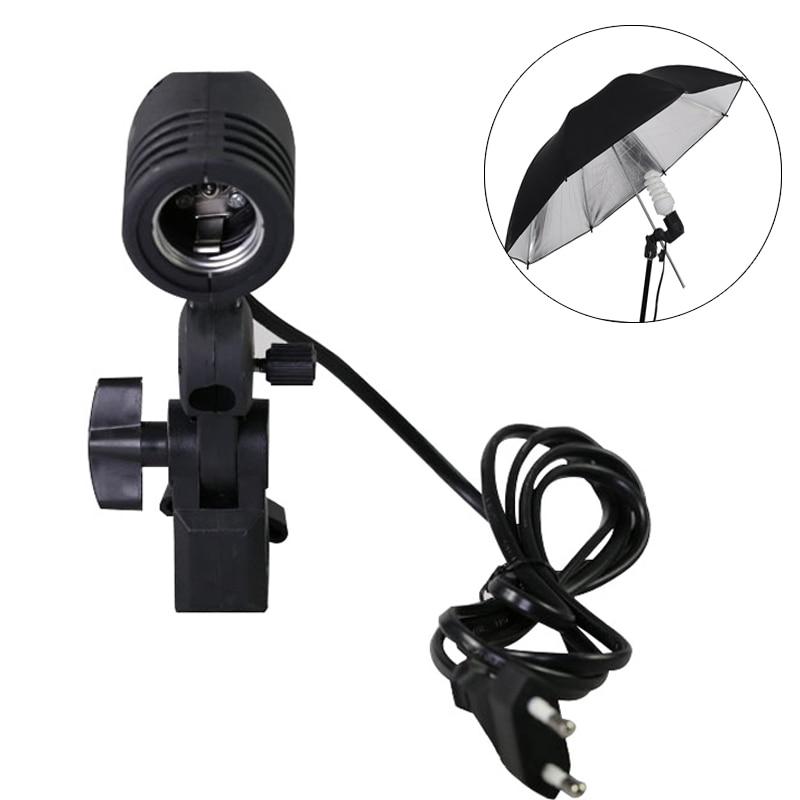 Flash Umbrella Bracket Single Head Bulb Holder Photo Lighting Bulb Holder Bulb lamp socket For Photography Studio Accessorie