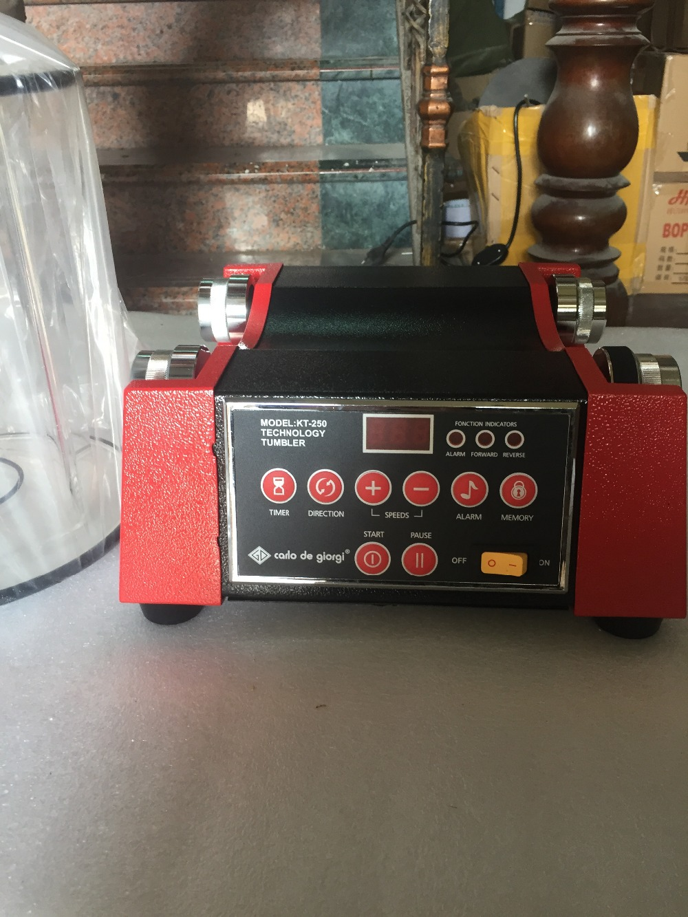 Machine rotative de culbutage de kt250 8 kg 220 V, machine de meulage d'or de polissage de nettoyage de diamant, gobelet rotatoire d'outils de fabrication de bijoux
