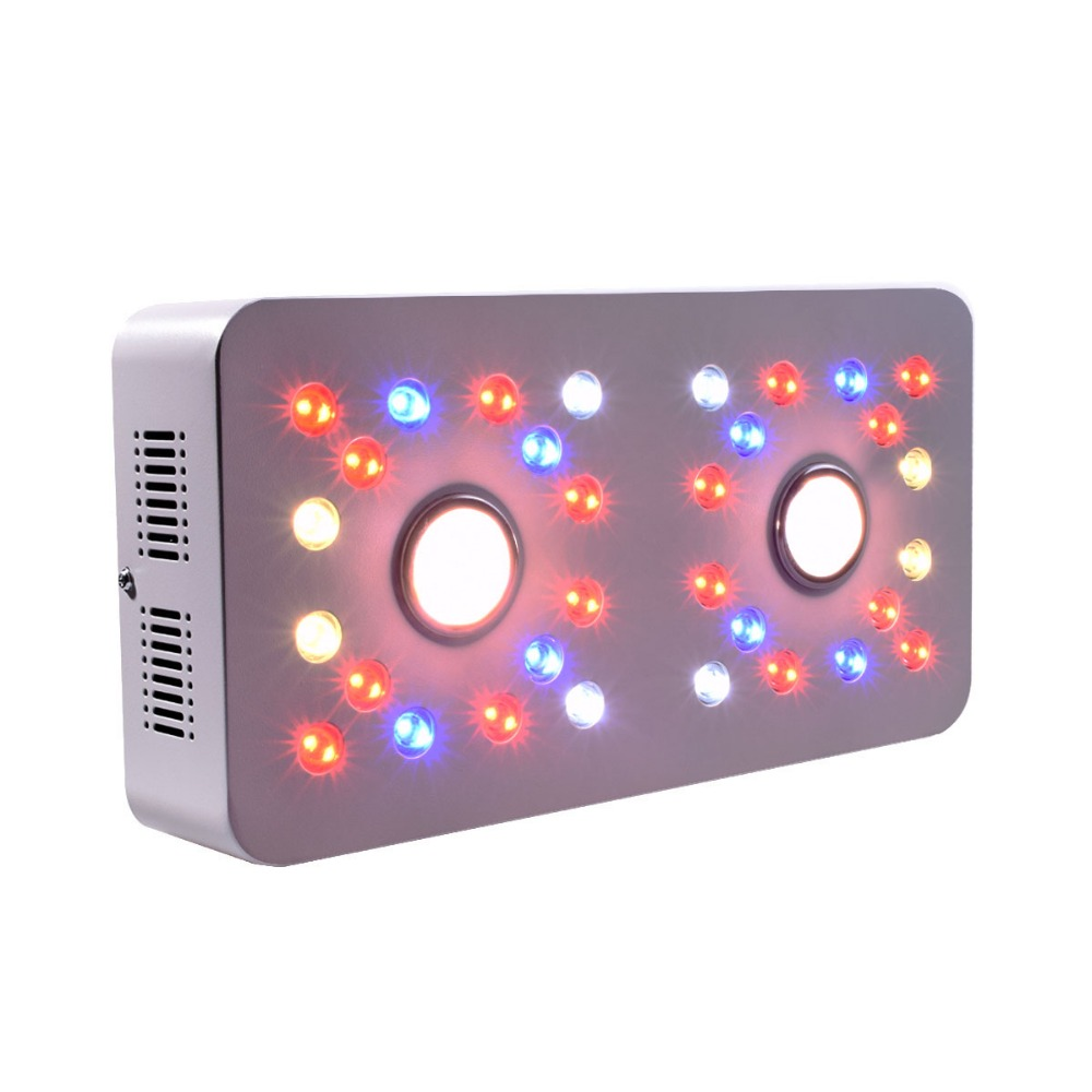 Qkwin Dimmable COB+double chip led grow light 1000W with Full spectrum with dual LENS for plants grow lighting|double chips|led grow light 1000w|led grow - title=