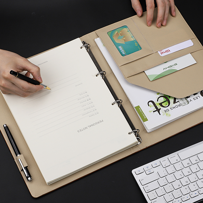 A4 Multifunctional Looseleaf Notebook Business Large Working Meeting Record Diary Office Stationery Supplies-in Notebooks from Office & School Supplies