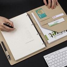 A4 Multifunzionale Fogli Mobili Notebook di Affari di Lavoro Grande Record Del Meeting Diario Forniture per Ufficio di Cancelleria