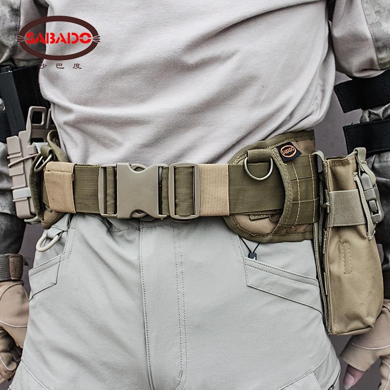 Airsoft Military Nylon Molle Waist Combat Belt Army Tactical Cummerbunds belt Wargame CS ...