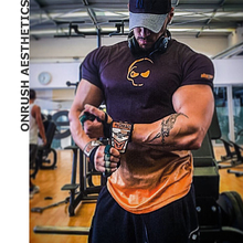 0d4a904c OA Summer Muscle Mens Fitness Short Sleeves Jogger Workout Quick-drying  Bodybuilding Tops Tee Round