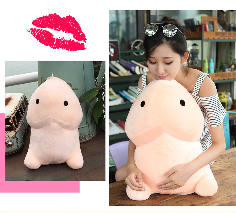30 50 cm Lovely Plush Penis Toy Doll Soft Stuffed Creative Simulation Penis Pillow Cute Sexy Creative Toy Gift for Girlfriend in Real Life Plush from Toys Hobbies