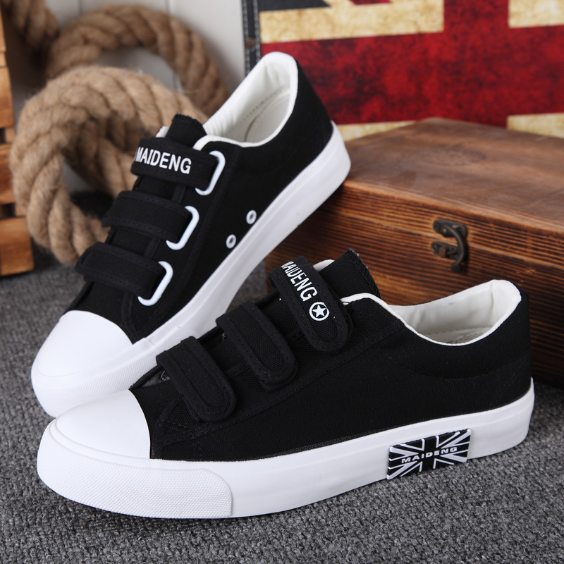 Casual women shoes 2018 new arrival lace-up canvas shoes woman fashion solid hook&loop Female shoes sneakers tenis feminino