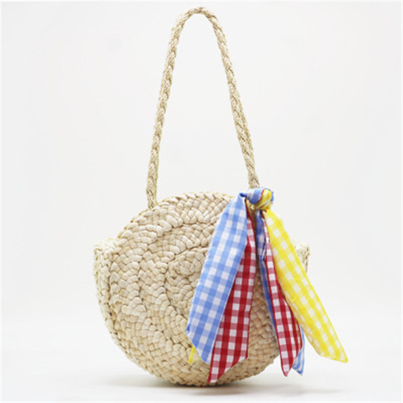 Bohemian Style Handbag Tassel Bow Scarf Strap Weave Women small Beach Shoulder Bags Large Summer Straw Casual Tote Shopping BagBohemian Style Handbag Tassel Bow Scarf Strap Weave Women small Beach Shoulder Bags Large Summer Straw Casual Tote Shopping Bag
