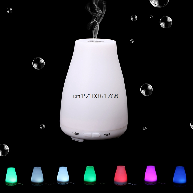 100ml LED Light Ultrasonic Home Aroma Humidifier Air Diffuser Purifier Atomizer High Quality #Y05# #C05# aa104sg01 lcd display screens