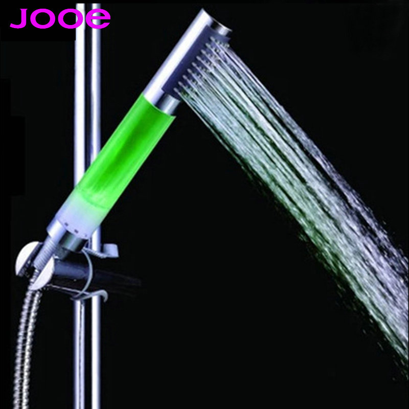 jooe ducha led shower head water saving water temperature sensor light handheld showerhead led shower for