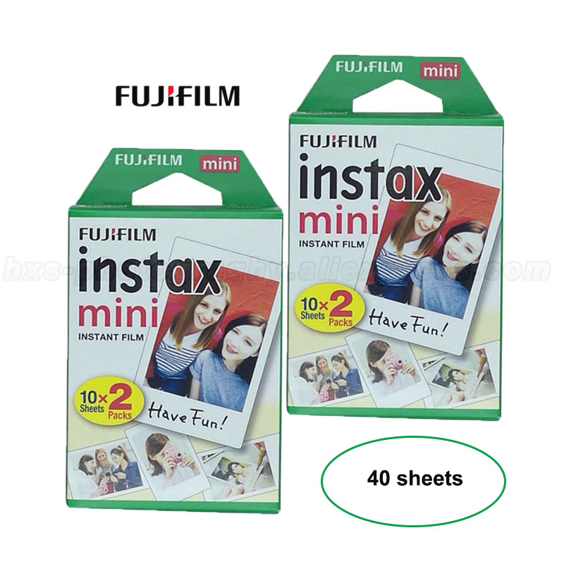 40 Sheets White Fujifilm Instax Mini 8 Film Fuji White Photo Paper For Mini 9 8 50s 7 7s 90 25 Share SP-1 SP-2 Instant Cameras