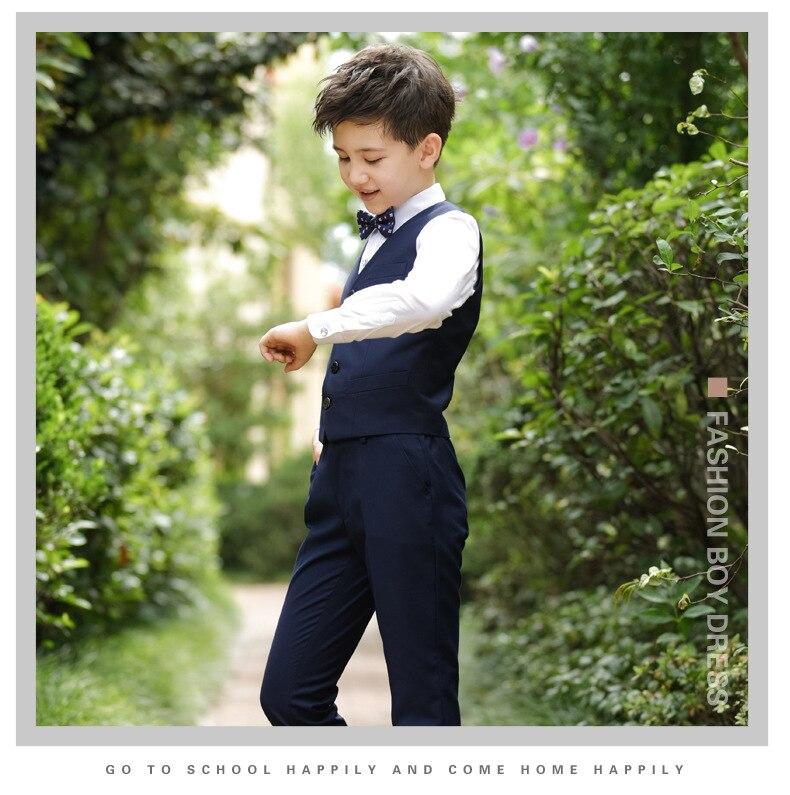 2017 Promotion Big Boys Vest Clothing Set Children Leisure Clothes Kids Wedding Prom Suits Christmas Costumes For Tie Shirt (5)