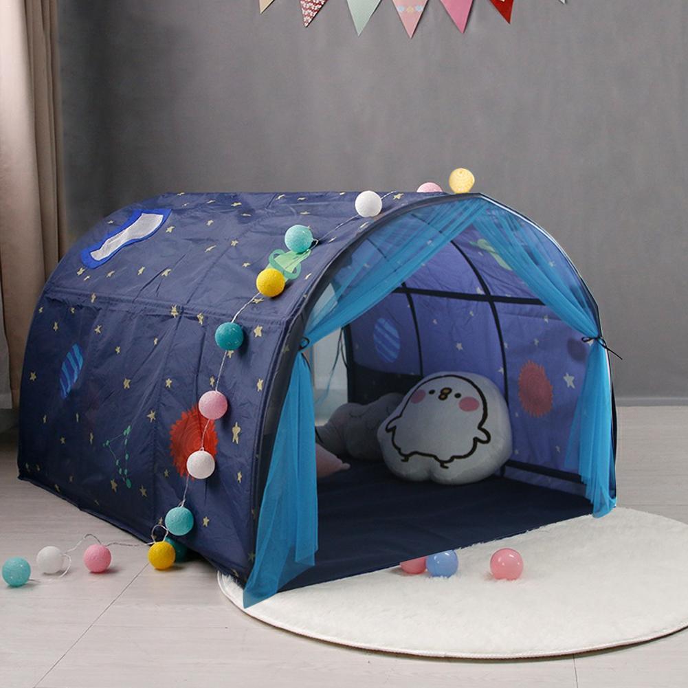 Kinder Bett Zelt Spiel Haus Baby Hause Atmungs Zelt Junge Mädchen Sicher Haus Tunnel Outdoor Camping Baby Strand Zelt - 4