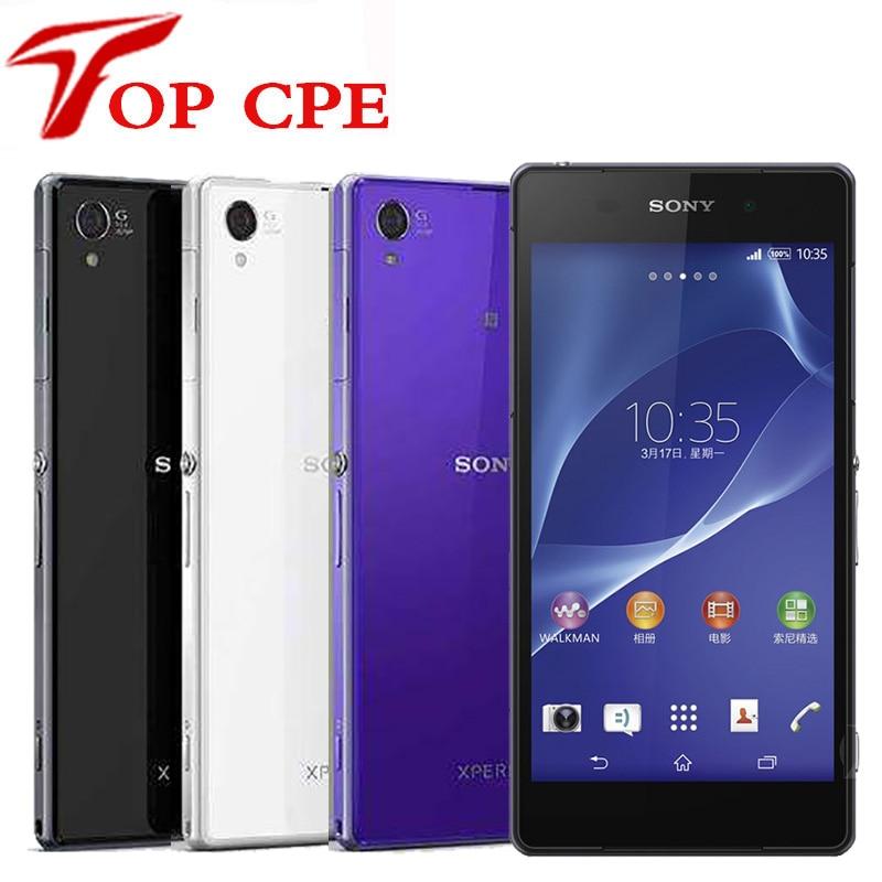 Original Sony Xperia Z2 D6503 Entsperrt Handy GSM WCDMA 4G LTE Android Quad Core RAM 3GB ROM 16GB 5,2 Zoll 20MP Kamera-in Handys aus Handys & Telekommunikation bei