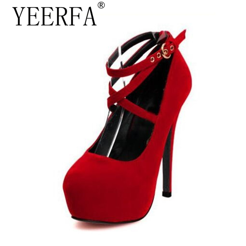 women sexy super high heels platform shoes 2015 elegant red bottom cross strap pumps ladies wedding stiletto shoes mujer zapatos YIERFA sexy women pumps bottom high heels platform shoes ladies wedding shoes bride chaussure femme talon big size 12cm heels