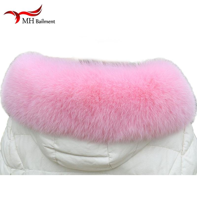 Wome Genuine Fox Fur Collar 100% Natural Fox Fur Scarf Winter Neck Warmer Male Coat Fur Collar Big Fur Hood Trim