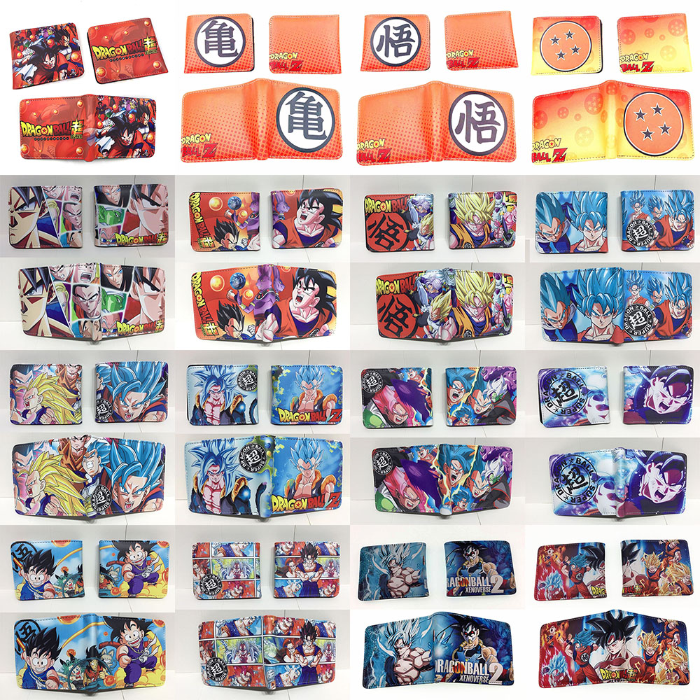 Dragon Ball Z Cartoon Purse Anime PU Leather Wallet With Coin Pocket Card Holder Bags For Kid Teenager Men Women Short Wallets