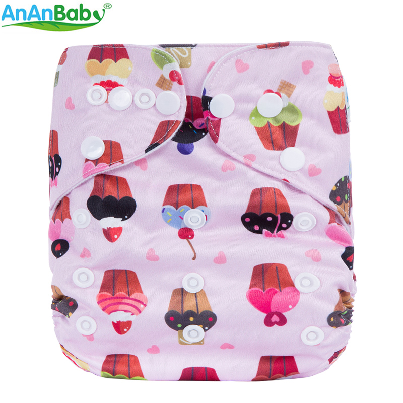 Image 5 - (5Pcs Per Lot)Ananbaby Pocket Cloth Diaper Breathable Nappy Adjustable Cotton Cloth Nappies Without Inserts-in Baby Nappies from Mother & Kids