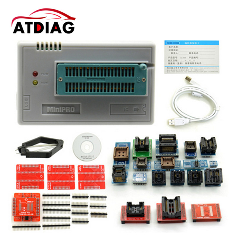 Newest V6.1 TL866CS Programmer +21 Adapters +IC Clip High Speed TL866 AVR PIC Bios 51 MCU Flash EPROM Programmer vs4800 usb universal programmer for bios gal eprom flash 51 avr pic mcu spi with 48pin zif socket support 15000 ic 4 adapters