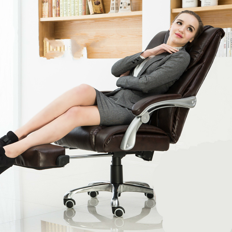 Comfortable Household Office Computer Chair Lying Boss Chair Capable Of Lifting Rotating Chair (With Pedal)