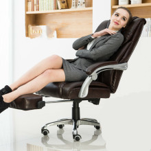 Comfortable household office computer chair lying boss chair capable of lifting rotating chair (With pedal) luxurious and comfortable office chair at the boss computer chair flat multifunction chair capable of rotating and lifting