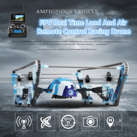 FPV Real Time Transmission RC UFO Tank Quadcopter with 720P Camera 2 in 1 One Key Return Land Air Remote Control RC drone Tank