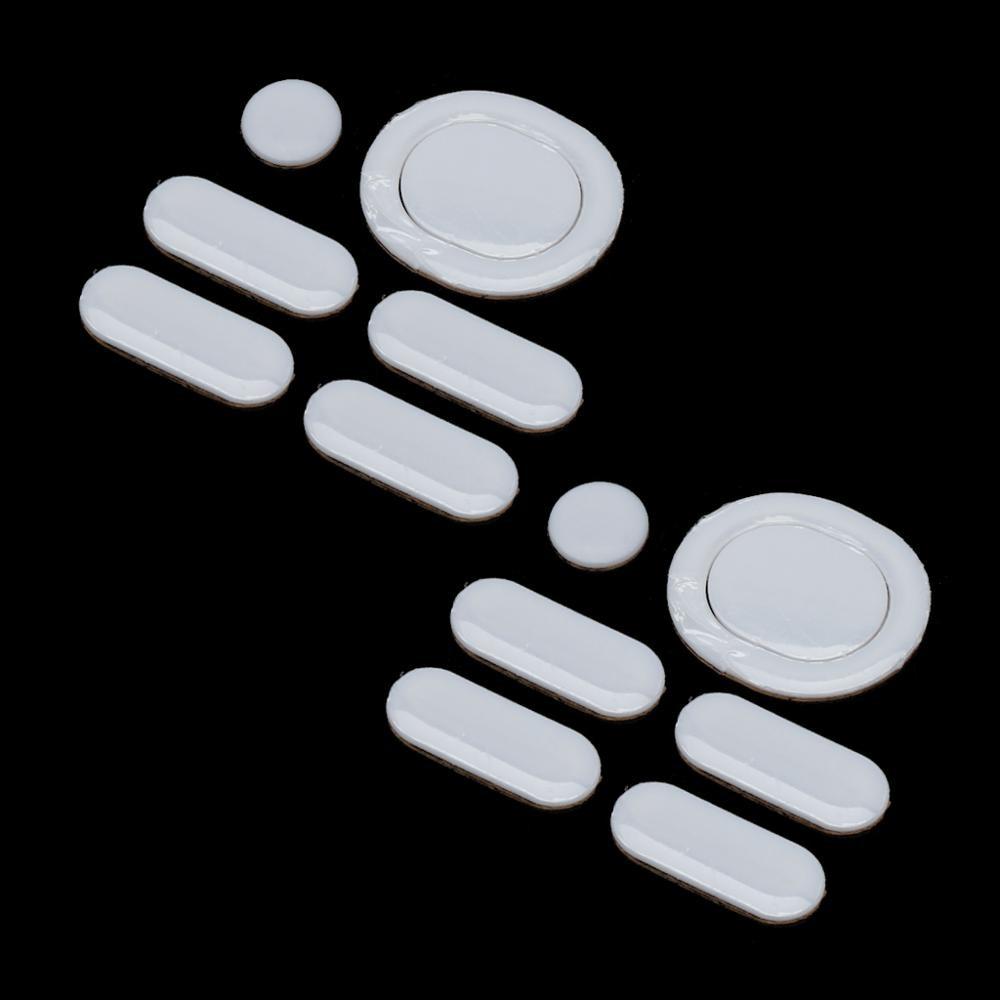 2 Sets/pack Tiger Gaming Mouse Feet Mouse Skate For Logitech G304 G305 Mouse White Teflon Mouse Glides Curve Edge