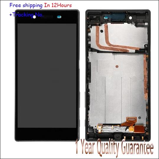 Original quality 100% new White Black For Sony Xperia Z5 E6653 E6603 E6633 LCD display+Touch screen Panel Digitizer with frame 5pcs lot official original new a quality screen for 6s lcd display black white