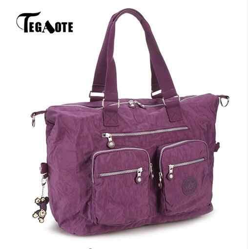 Tegaote 2017 Top-Handle Bag Tas Tangan Wanita Merek Terkenal Tote Kasual Zipper Wanita Tas Bahu SOLID Musim Panas Pantai Tas kantung Utama
