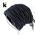 2018 Males's Skullies Hat Bonnet Winter Beanie Knitted Wool Hat Plus Velvet Cap Thicker Stripe Skis Sports activities Beanies Hats for males HTB1AoGFHYGYBuNjy0Foq6AiBFXaW