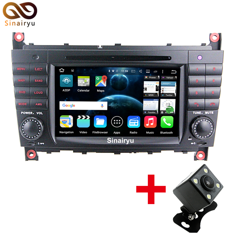 1024 600 Quad Core Android 7 1 2 Car DVD Player For Mercedes Benz C CLK