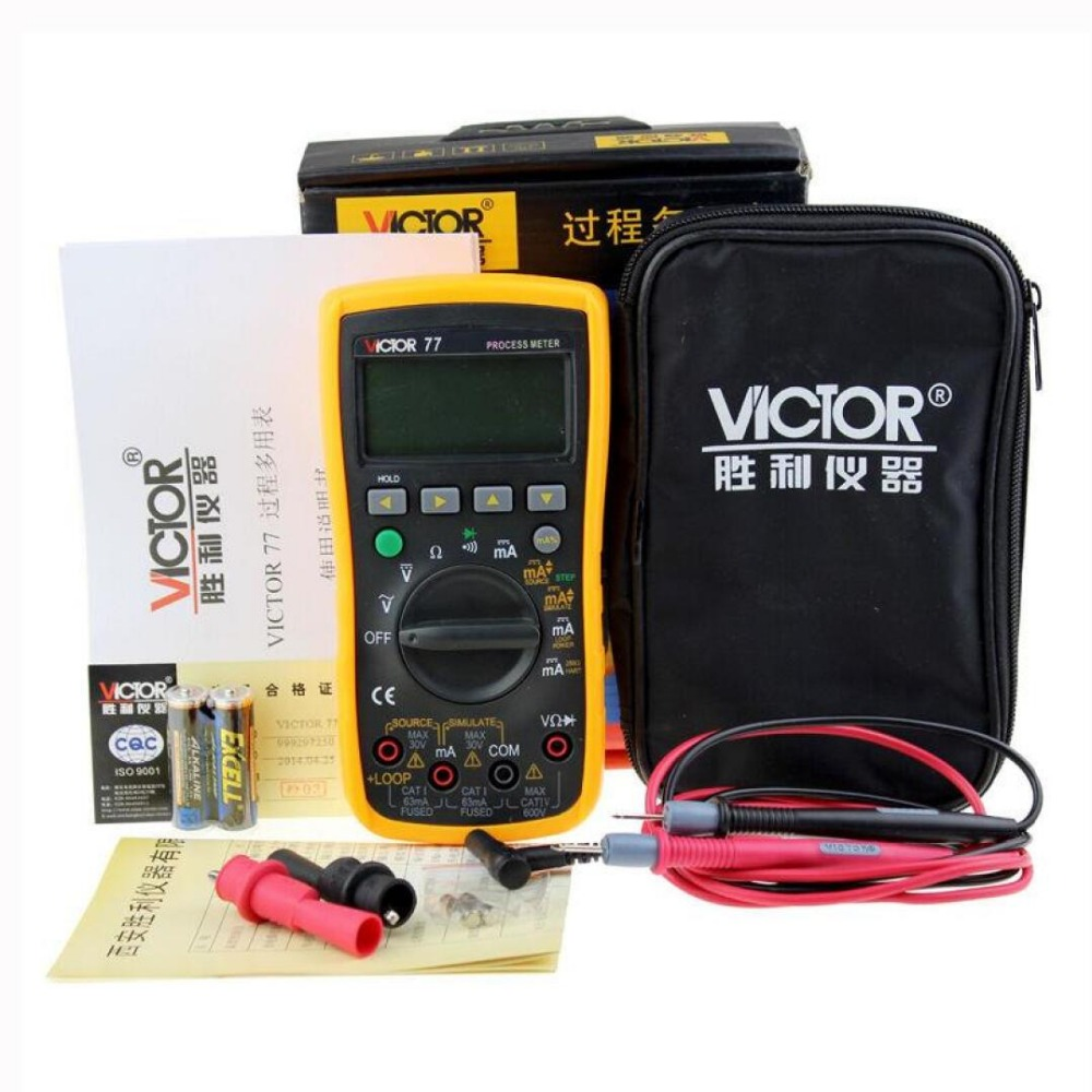 VC77 digital multimeter 4-20MA process signal source signal output process multimeter Digital Multimeter DMM digital multimeter tm86