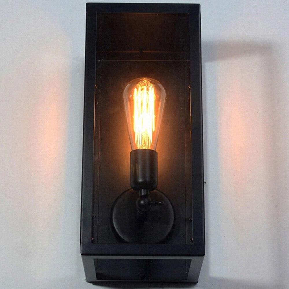 Черный Крытый Настенные светильники Кухня лобби Ванная комната антикварные настенные бра Винтаж Промышленное освещение Лофт кованого железа LED Бра - 5