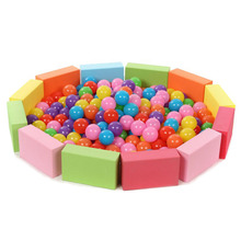 100pcs Eco-Friendly Colorful Ball Pits Water Pool Ocean Wave Ball Baby Funny Toys Outdoor Fun Sports Soft Plastic Swim Toy Balls