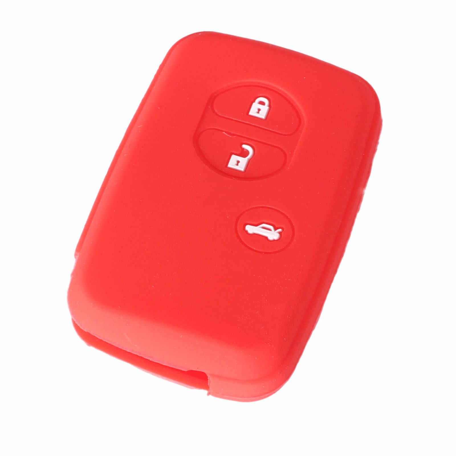 KEYYOU 3 Button Silicone Remote Key Cover For Toyota Land Cruiser Camry Highlander Crown Prado Prius Car Key Set Jacket Fob Case
