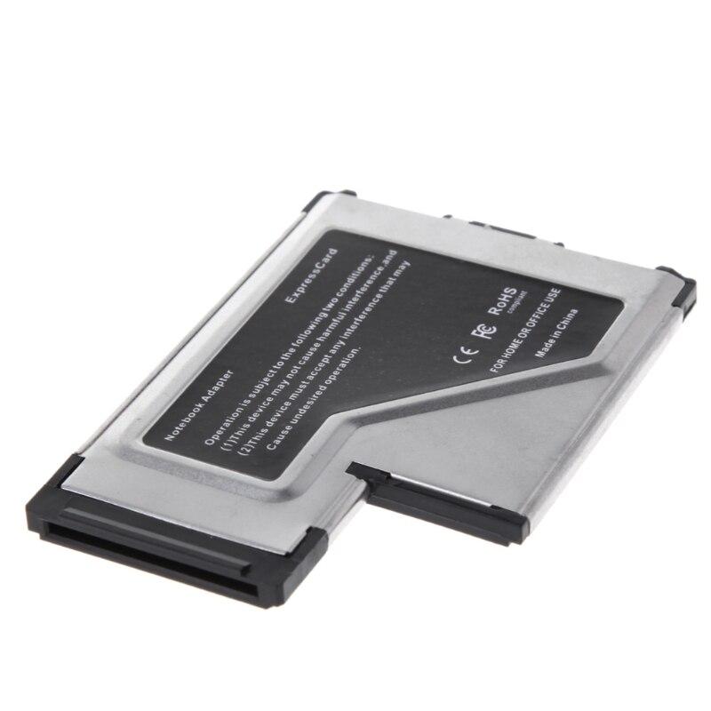 2 Port Hidden 54mm USB 3.0 EXPRESSCARD Expansion Card Adapter For Laptop